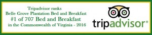 Belle Grove named top bed and breakfast by Trip Advisor